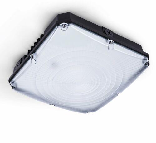 Black Outdoor Commercial Light Fixture 5000K Hyperikon LED Canopy Light UL,