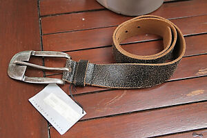 576a32da598 FREEMAN PORTER ceinture en croute de cuir 75cms x 4cms noir homme ...