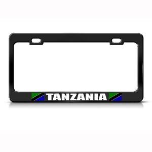 Tanzania Flag Black License Plate Frame Tag Holder Ebay