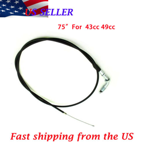 2 stroke 43cc 49cc scooter ScooterX parts 75 inch Throttle Cable  New