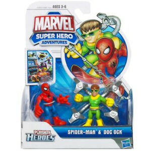 Spider-Man et Doc Ock Marvel Super Hero Aventures Figurines Playskool Heroes
