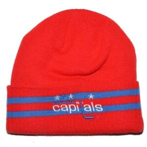 1a8d01399af WASHINGTON CAPITALS MITCHELL   NESS NHL RED KNIT BEANIE 886047741461 ...