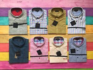 Oakman-Short-Sleeved-Casual-Shirt-Medium-XL-4XL-BNWT