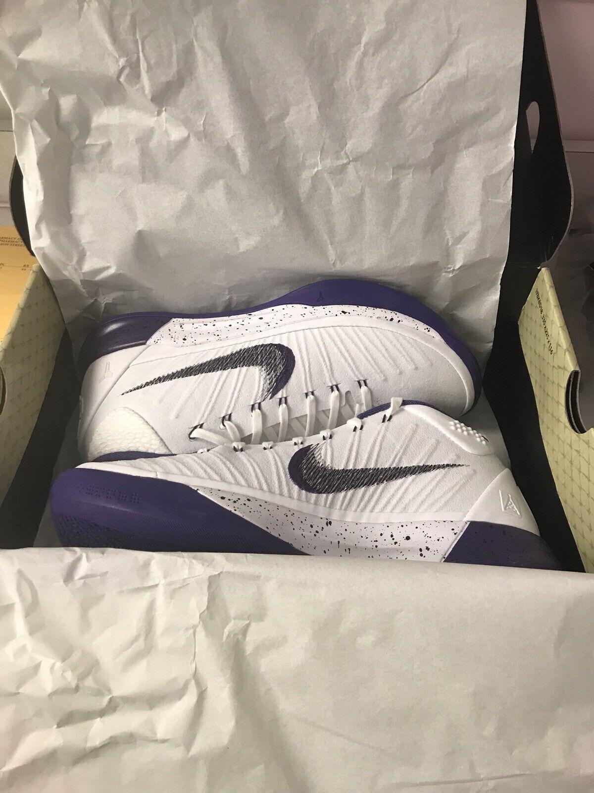 Kobe AD 7.5 White court Purple Mens New In Box Smoke Free Sunday Best