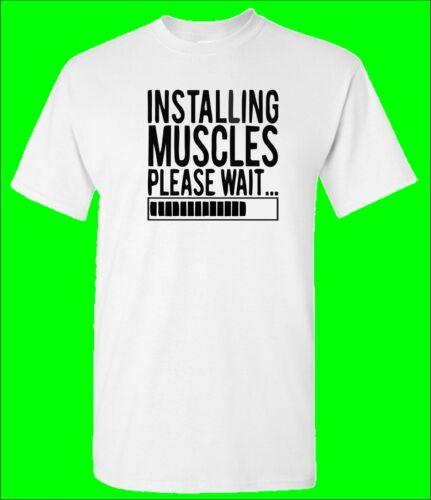 Installation de muscles Bodybuilding T-shirt Musculation Gym Wear Cadeau formation