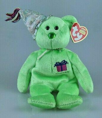 """8"""" Ty Il Compleanno Beanie Collection, August Orso Con Cappello Party-mostra Il Titolo Originale Alta Qualità E Poco Costoso"""