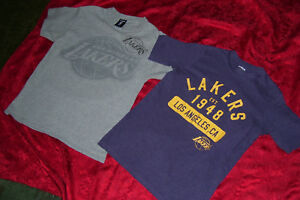 LAKERS T SHIRTS (2) LOT UNK, NBA, OFFICIAL SIZE S SMALL ~L ...