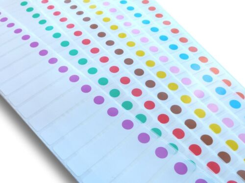 100 15MM X 70MM COLOURED SPOT FREEZER ADHESIVE WRITE ON LABELS
