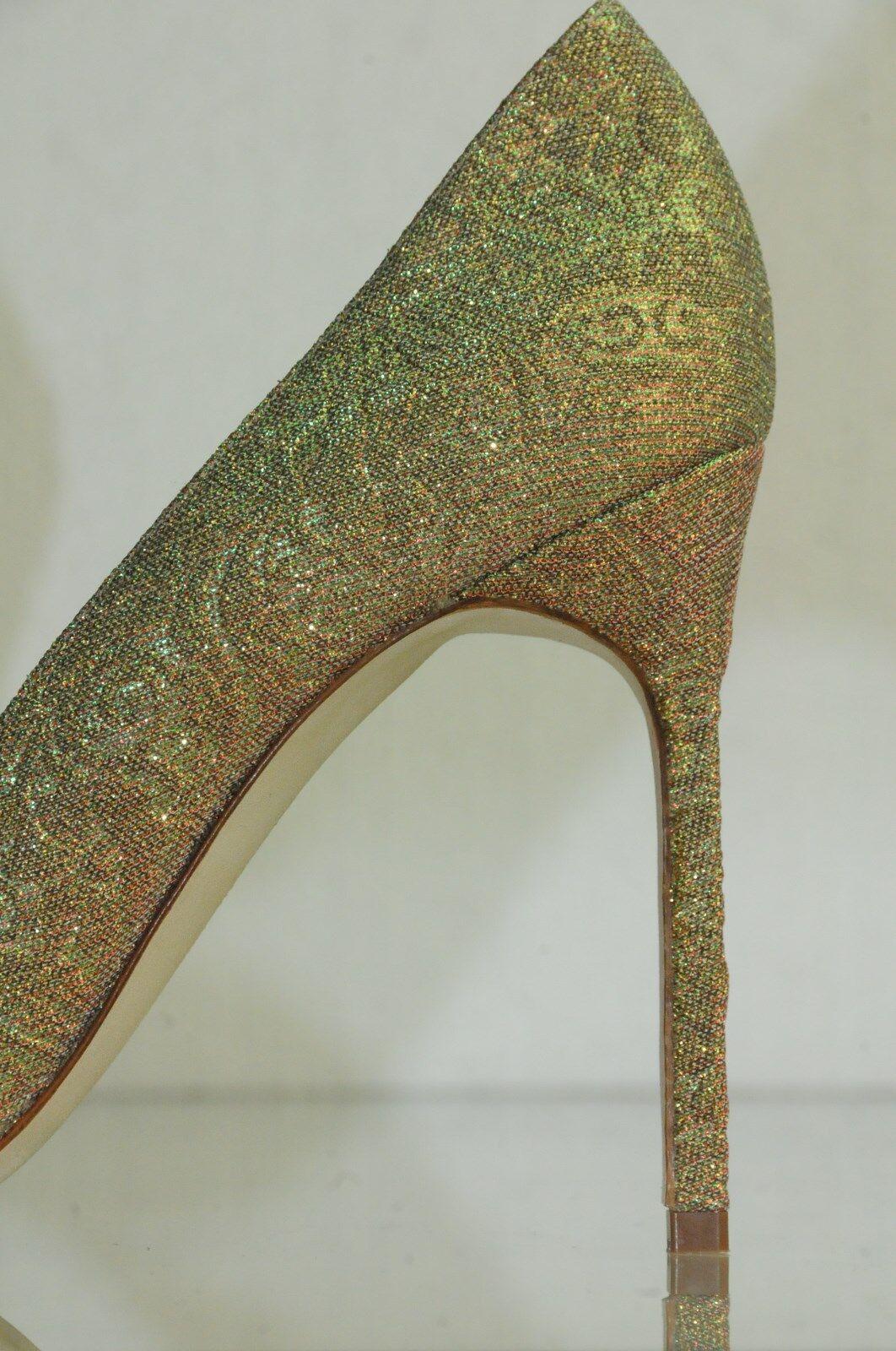 New Manolo Blahnik BOBBY Rosa Gold Gold Gold Iridescent Brocade schuhe Pumps BB 39 40 40.5 1614d8