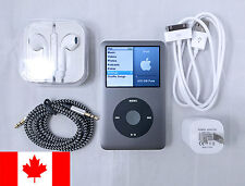 Custom Apple iPod Classic Gray 512 GB SSD With Earbuds, USB & AUX Cable, Charger