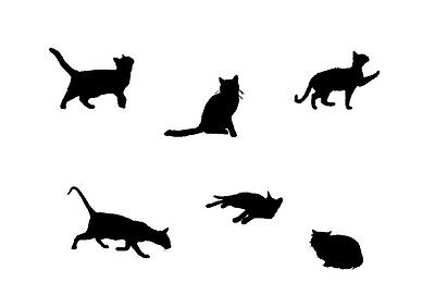 Sitting Cat Tattoo style stencil 350 micron Mylar not thin stuff  #TaT003