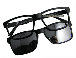 ae4ae22cf4 Men Magnetic glasses Eyeglass frame polarized clip on sunglasses 53 ...