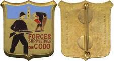 Forces Supplétives de CODO, émail, dos guilloché, D.O.Métra (2089)