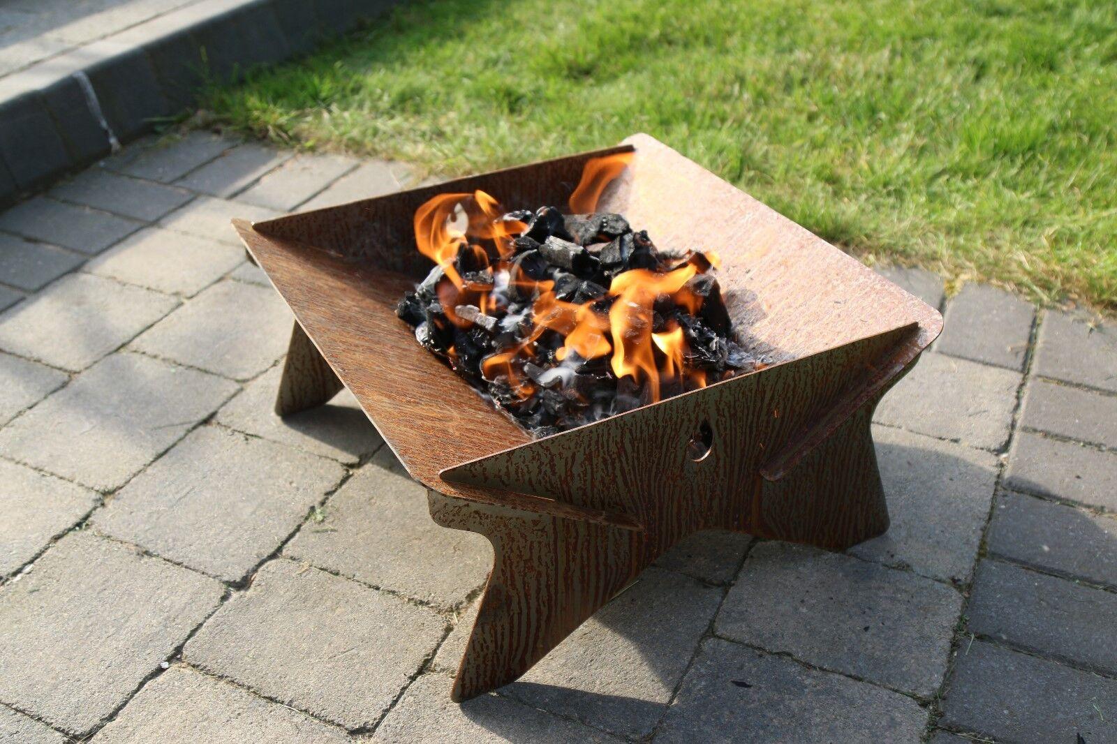 Caja de lava portátil fuego Pit-paquete plano-Edición Limitada-De colección Rústico De Acero