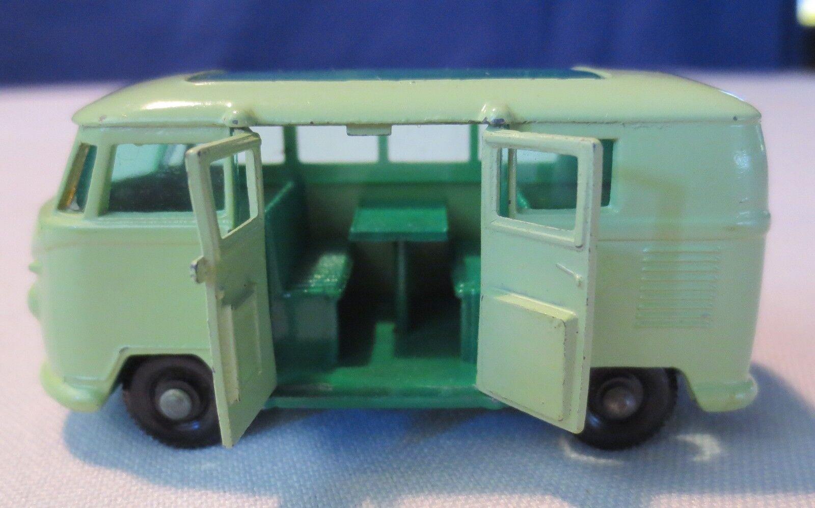 MATCHscatola Lesney 34 verde Volkswagon autoavette camper apertura porta senza scatola