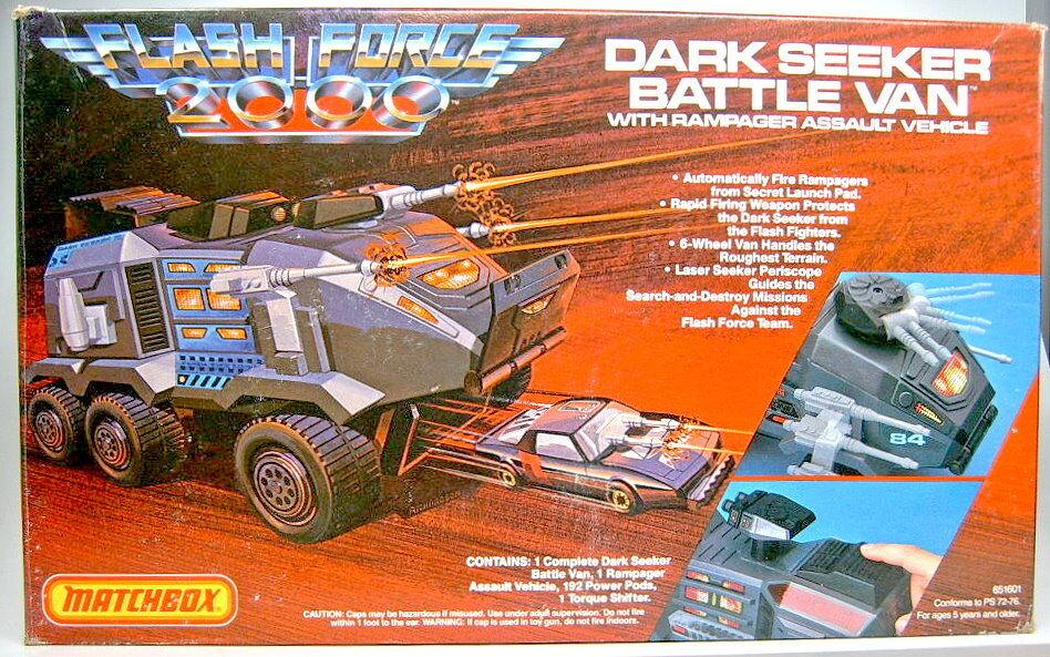 Matchbox  Flash Force 2000  Dark Seeker Battle Van Complete Set in Box