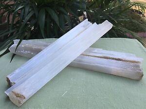 20-Selenite-Stick-14-034-Selenite-Wand-Gemstone-Specimen-Reiki-Chakra-Crystal-Wand