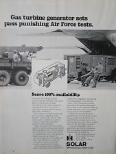 1/1973 PUB SOLAR GAS TURBINE GENERATOR SETS AIR FORCE ORIGINAL AD