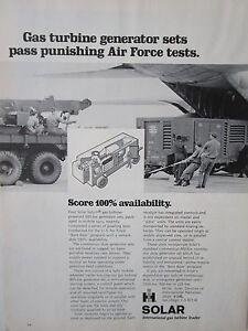 Details about 1/1973 PUB SOLAR GAS TURBINE GENERATOR SETS AIR FORCE  ORIGINAL AD