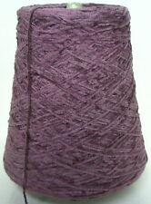 AMETHYST Cotton Chenille Cone Yarn Weaving Knitting 1450 ypp 1 lb.