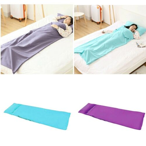 Outdoor SingleDouble Sleeping Bag Liner Polyester Portable Camping Travel Sheet