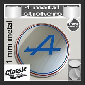 METAL STICKERS WHEELS CENTER CAPS Centro LLantas 4pcs CITROEN 12