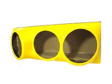 Triple 10 fiberglass sub woofer speaker box enclosure carpeted MDF case YELLOW