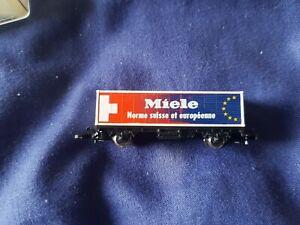 RARE Marklin Mini-Club Z Gauge 4482,900 Miele container wagon