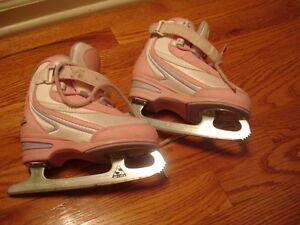 Girl's Softec Pink Figure Ice Skates Size 11J