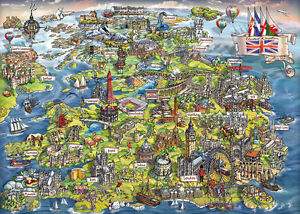 Map Of Uk Jigsaw.Details About Gibsons Beautiful Britain 1000 Piece Map Jigsaw Puzzle G7080