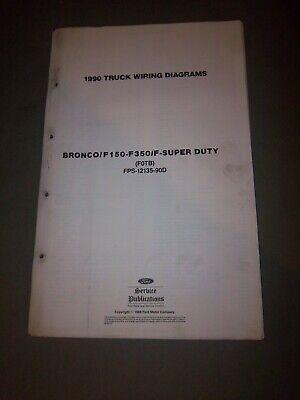 OEM 1990 Ford Bronco F150 F250 F350 Electrical Wiring ...