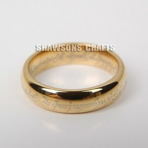 lord of the rings jewelry 5mm gold tungsten carbide one