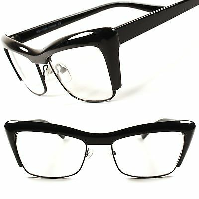 Designer Fashion Vintage Retro Womens Clear Lens EyeGlasses Cat Eye Frame C92A