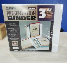 Samsill 3 Inch White 2 Pack Binder