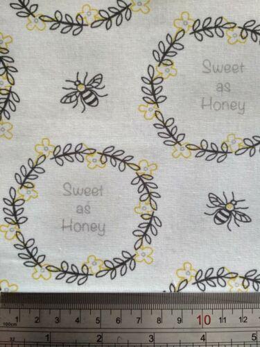 Costura Costura Manualidades Las abejas dulce como la miel de tela de algodón-Acolchado