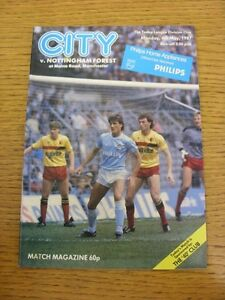 04051987 Manchester City v Nottingham Forest  Team Changes - <span itemprop=availableAtOrFrom>Birmingham, United Kingdom</span> - Returns accepted within 30 days after the item is delivered, if goods not as described. Buyer assumes responibilty for return proof of postage and costs. Most purchases from business s - Birmingham, United Kingdom
