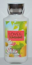 NEW BATH & BODY WORKS LOVE SUNSHINE LOTION CREAM HAND SHEA BUTTER VITAMIN E 8 OZ