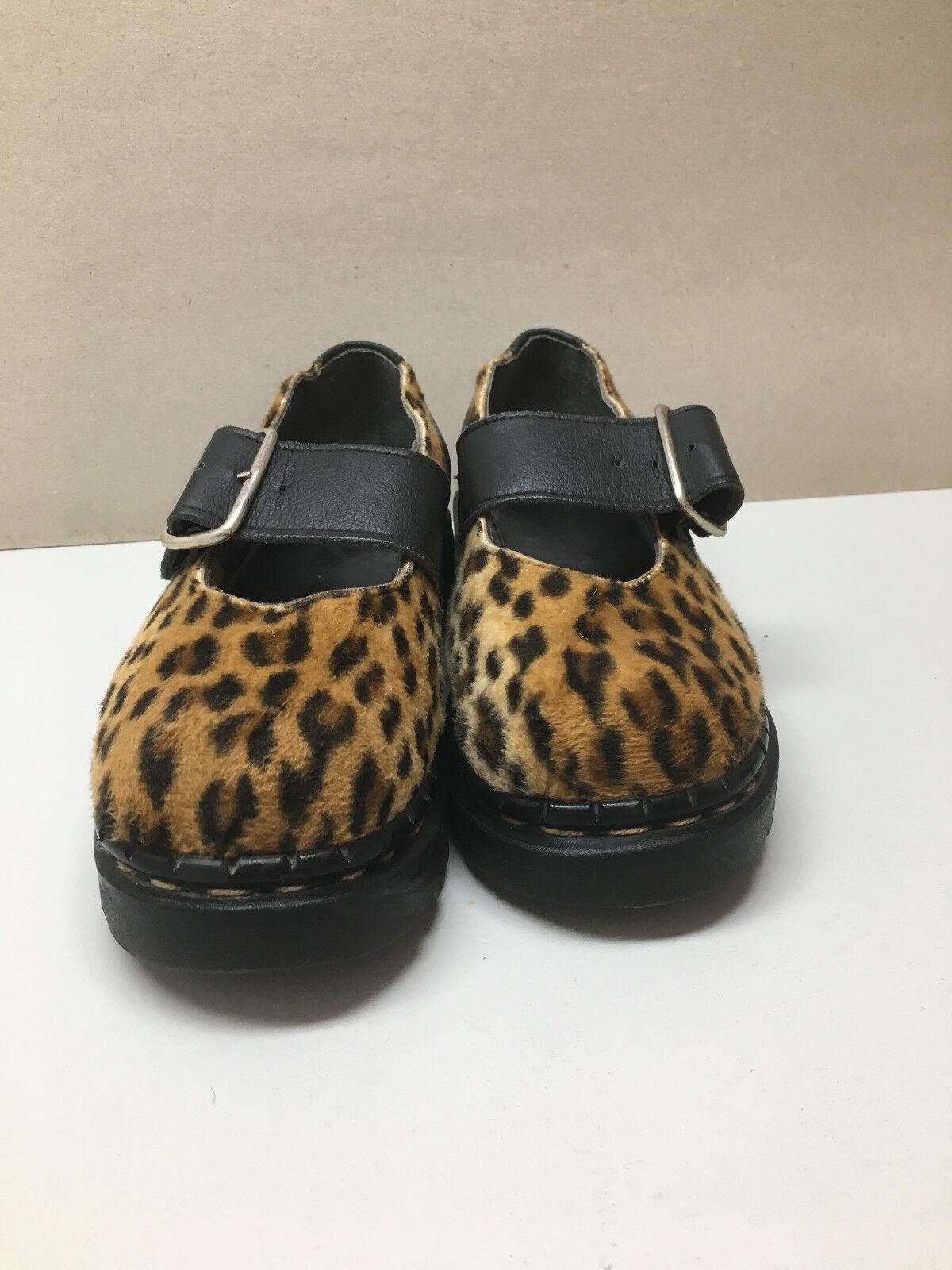 Tredair Leopard Mary Janes 7, GR. 36
