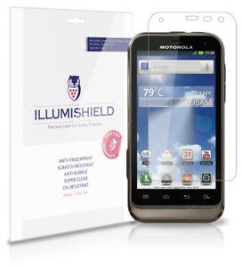 iLLumiShield-Phone-Screen-Protector-w-Anti-Bubble-Print-3x-for-Motorola-Defy-XT