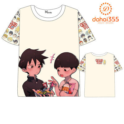 Anime Mob Psycho 100 t-shirt Short Sleeve Men and Women Free Shipping