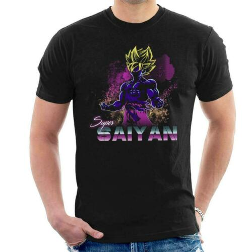 Retro Super Saiyan Dragon Ball Z Men/'s T-Shirt
