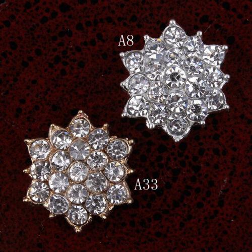 30pcs//lot 18mm Clear Alloy Crystal Flatback Rhinestone Embellishment