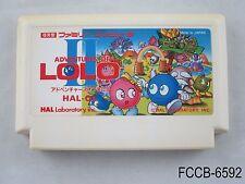 Adventures of Lolo 2 II Famicom Japanese Import FC NES Nintendo US Seller B/Good