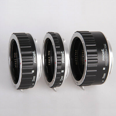 Metal Mount Auto Focus AF Macro Extension Tube/Ring For Canon EOS 5D 7D 60D 550D