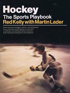 Hockey-The-Sports-Playbook-1976-1st-Edition-Softcover-Book-Red-Kelly