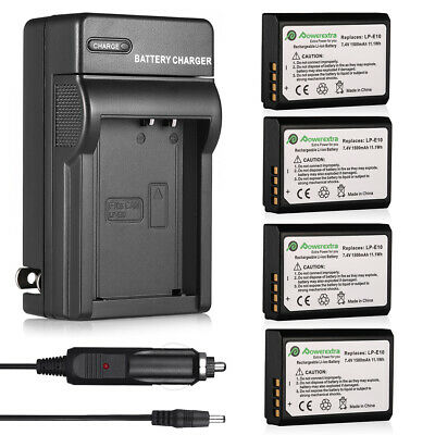 1500D T7 1200D T5 EOS 1100D X90 T6 X70 3000D EOS Kiss X50 X80 1300D LC-E10 Charger for Canon EOS Rebel T3