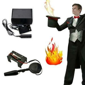 Electronic Fire Ball Launcher Magic Trick Props Accessories Stage Illusions NEU~