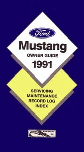 1991 ford mustang owners manual user guide reference operator book rh ebay co uk 2018 ford mustang owners manual ford mustang owners manual