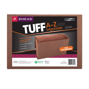 Smead TUFF Expanding File, 21 Pockets, Alphabetic (A-Z), Flap and Cord 70320