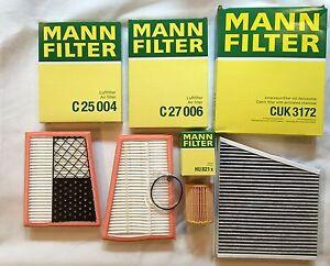 Mann-Filter-set-filtro-aceite-filtro-de-carbon-activado-280-CDI-320-CDI-s211-hombre-filtro
